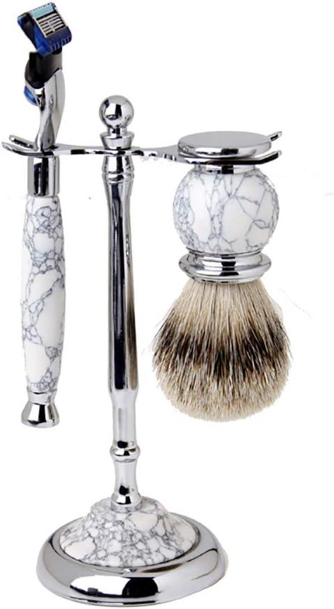 Afeitadora Combinación Set Natural Jade Fabricación de herramientas de afeitado Cuchilla de 5 capas Cuchillo de barba Boutique de acero inoxidable Regalo de gama alta Hombres deben: Amazon.es: Hogar