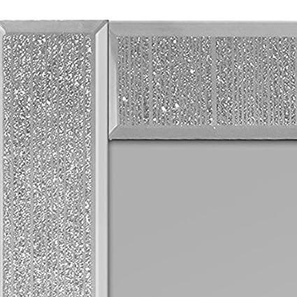 3/x 45/cm Innova M06896 Ascot/ Color Plateado Espejo Rectangular Vidrio centelleante
