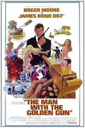 James Bond 007 Man with the Golden Gun Movie Poster Canvas Art Print Roger Moore