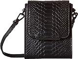 KENDALL + KYLIE Women's Violet Snake Black Handbag
