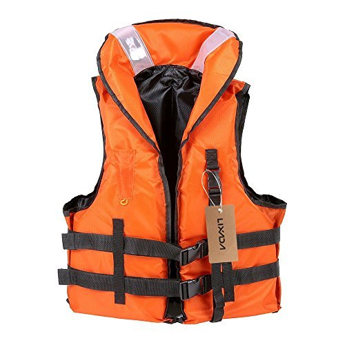 Lixada Life Vest Jacket,Boating Vest Survival Vest with Emergency Whistle for Outdoor Water Sports Kayaking Boating Fishing