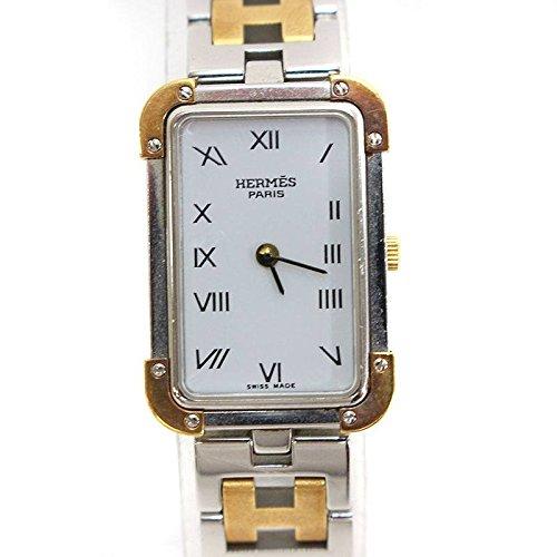 (エルメス) HERMES 【CR1.220 クロアジュール】コンビ クォーク腕時計(シルバー×ゴールド) 中古 B07FW2F7BJ  -