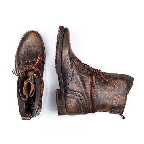 Felmini - Damen Schuhe - Verlieben Grabo 8501 - Schnüren Sie sich oben Stiefel - Echtes Leather - Braun - EU: