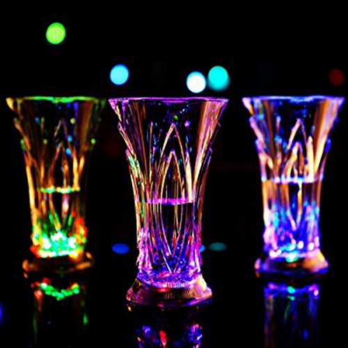 Colorful Flashing Water Sensor LED Beer Mug Juice Cup for Bar Club Party shopping (Harley Davidson Cake Pan compare prices)