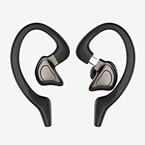 NFGHK Auriculares Bluetooth, Auriculares Wireless Bluetooth 5.0 Sonido Estéreo 3D con Bajo 4 Tiempo de Juego Diseño a Prueba de Sudor con Micrófono CVC6.0 / DSP con Cancelación de Ruido