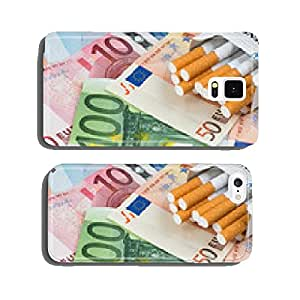 Cigarettes with banknotes cell phone cover case Samsung S6