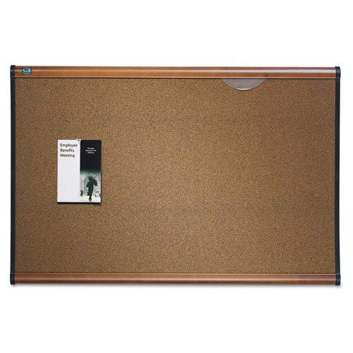 Quartet B247MA Cork Bulletin Board, 6'x4', Maple ()