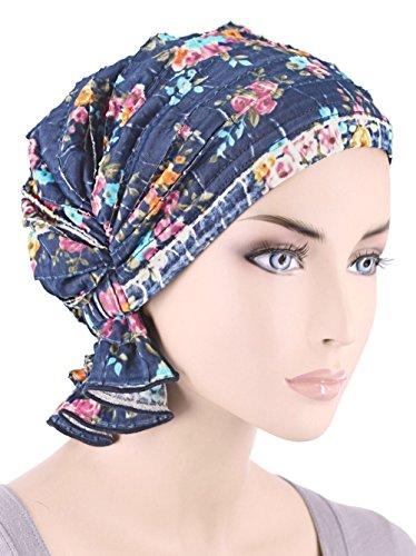 Abbey Cap ¨ Women's Ruffle Chemo Hat Beanie Scarf, Turban Headwear for Cancer