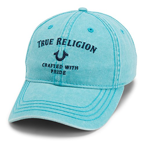True Religion Men's Core Logo Baseball Cap, Caribbean Blue, One Size