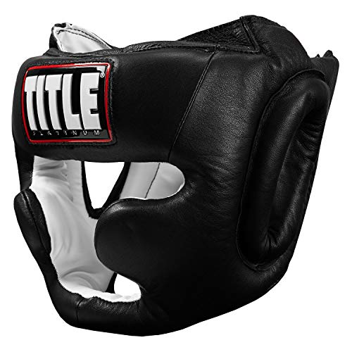- Title Platinum Full Face Training Headgear, Black, Regular