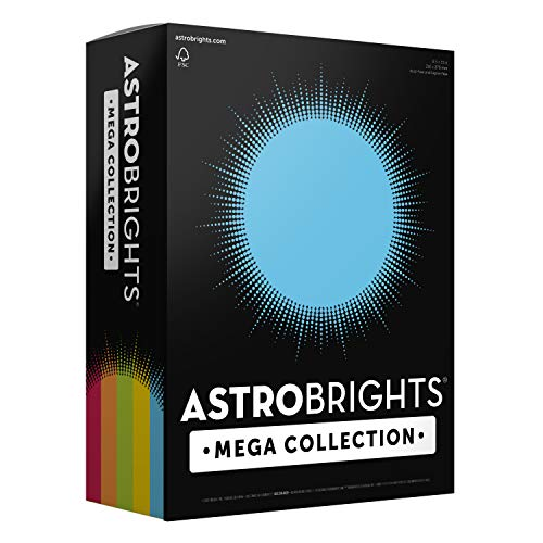 Astrobrights Mega Collection 320 Sheets, 65 lb/176 gsm,