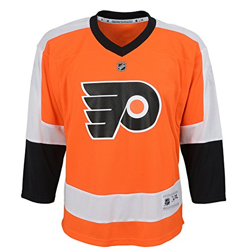 NHL Philadelphia Flyers Youth Boys Replica Home-Team Jersey, Large/X-Large, Special Orange ()
