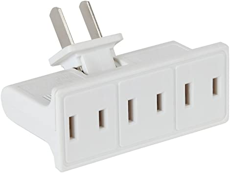 White NCC 90358-1 Westinghouse Triple Outlet Swivel Adapter