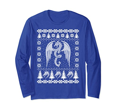 Unisex Dragon Ugly Christmas Sweater Long Sleeve T-Shirt