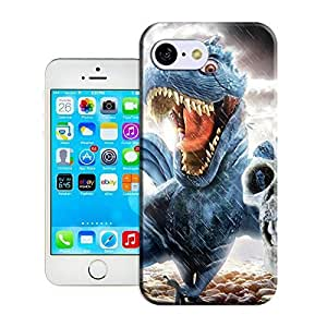 Customize Protective Case dino bird dinosaur skull photoshop painting oranges digital art Back tight-skinned Cover Case for iphone in 6 4.7 constipation
