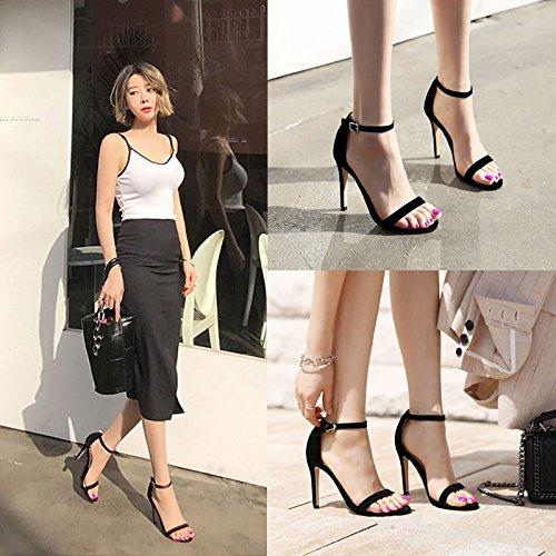 Correa Delgada SHOESHAOGE Ranurada Mujer EU38 Zapatos Sandalias Zapatos High para Chica Eu39 De Chica con Ranuras Heel El dqq5wZr1XW