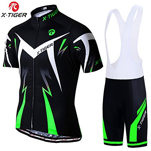 Amazon.com   X-TIGER Men s Cycling Jersey Set Short Sleeve Biking with 5D  Gel Padded Shorts MTB Road Bike Cycling Clothing Set   Sports   Outdoors 996dc5c46