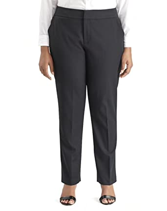 9c3e9717775fb Chaps Women s Misty Day Plus Size Straight-Leg Dress Pants at Amazon ...