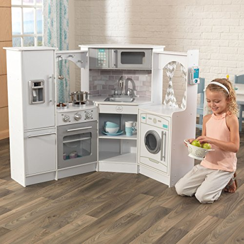 KidKraft Ultimate Corner Play Kitchen Set, (Kids Kitchen Refrigerator)