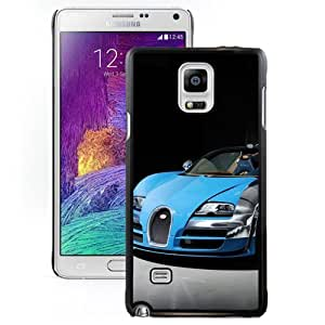 New Personalized Custom Designed For Samsung Galaxy Note 4 N910A N910T N910P N910V N910R4 Phone Case For 2013 Bugatti Veyron 16.4 Grand Sport Vitesse Blue Phone Case Cover