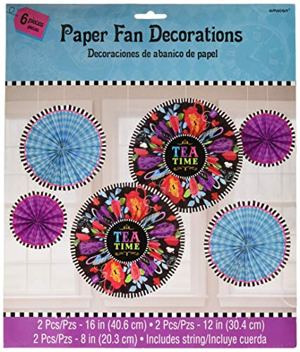 Amscan 670608 Hanging Fan (6ct) Party Decorations, One