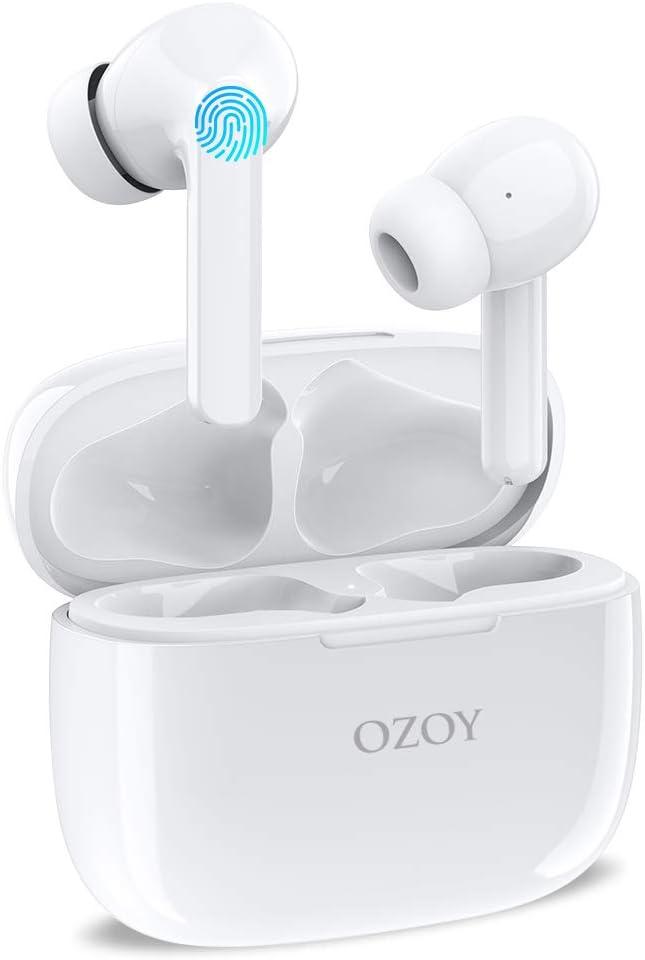 Auriculares Inalámbricos Bluetooth 5.1 Cancelación Activa de Ruido, IPX6 TWS Auriculares Deportivos con Reproducci 30 Horas, Sonido Estéreo, Micrófono Incorporado, Control Táctil para iPhone Samsung