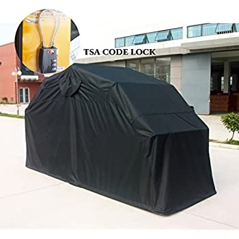 Quictent Heavy Duty Motorcycle Shelter Tourer Cover Storage Garage Tent with TSA Code Lock u0026 Carry : cover tent - memphite.com