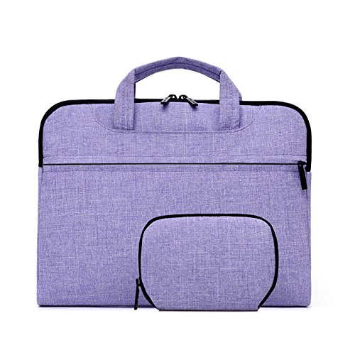 BEYLEG Ultra-Portable Universal oxford Nylon waterproof Carrying Sleeve Case Bag Cover for 14 inch Laptop Notebook Ultrabook Macbook and Computer (ACER ASUS HP SONY TOSHIBA DELL LENOVO SAMSUNG APPLE) - light purple (Universal Hp Case Nylon)