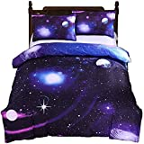 2 PCS Galaxy Bedding Sets Duvet Cover Sets Kids Bedding for Boys and Girls Teens, Twin