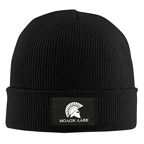 Molon Labe casco Beanie sombrero para hombres y mujeres negro negro