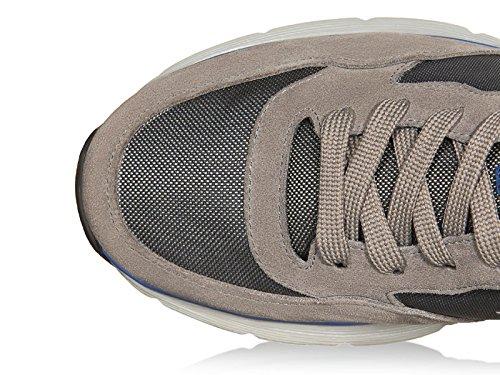 Hogan zapatillas de deporte de ante con insertos de tela de alta tecnología - Número de modelo: HXM2540S420E4U559N gris