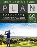 5 year monthly planner 2020-2024: Monthly Schedule Organizer - Agenda Planner For The Next Five Years, 60 Months Calendar, Appointment Notebook Large Size | swing golf design