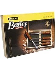 Stanley Bailey 2-16-217 steekbeitel, 5-delig, 6/10/15/20/25 mm, beitelbreedte, gehard staal, kunststof kap