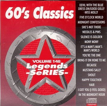 LEGENDS #148 60'S CLASSICS Karaoke CD+G Disk 17 Songs (60's Karaoke)