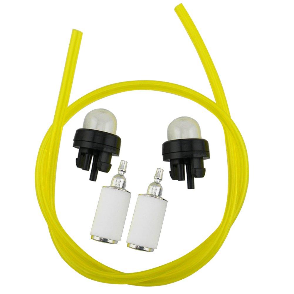 Amazon.com: HIPA 530069216 Fuel Line + 530047721 Primer Bulb + 530095646 Fuel  Filter for Poulan 31WG PP031 PP033 PP035 PP036 PP131 PP133 PP135 PP136  PP136E ...