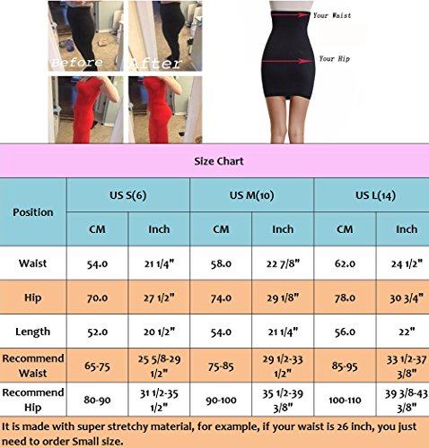 f2fc4a737b4cc Half Slips for Women Under Dress High Waist Tummy Control Top Shapewear  Slimming Butt Lifter