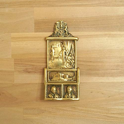 Door Knocker || Vintage Brass || Land of Brown Heath and Shaggy Wood, Land of The Mountain and The Flood || Sir Walter Scott -