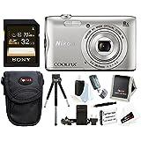 Nikon Coolpix A300 Wi-Fi Digital Camera (Black) Memory Card + Case + Accessory Kit (32GB Bundle (Silver))