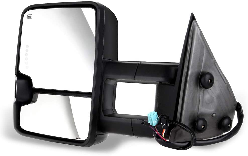 ZENITHIKE Tow Mirrors with Driver Side and Passenger Side Power Heated Turn Signal Clearance Lamp Towing Mirrors Fit For 2003-2006 Chevy GMC Sierra Pickup Yukon Yukon XL Yukon Denali Cadillac Escalade