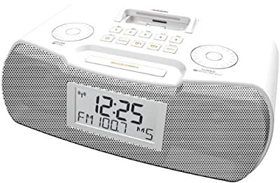 Sangean AM/FM-RDS Atomic Clock Radio with iPod Dock by Sangean