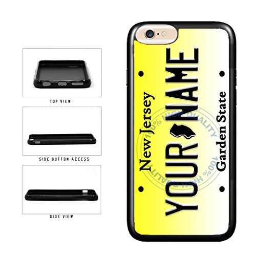 BleuReign(TM) Personalized Custom Name New Jersey State License Plate TPU Rubber Silicone Phone Case Back Cover for Apple iPhone 8 and iPhone 7
