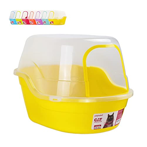 Litter Box with Lid - Jumbo Hooded Kitty Litter Pan - Holds Up to Two Small Cats Simultaneously,Extra Large by Petphabet