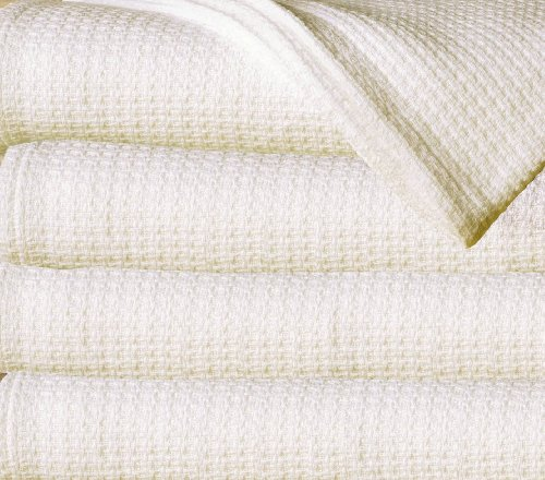 Price comparison product image Sun Yin 100-Percent Cotton Full/Queen Blanket, Ivory