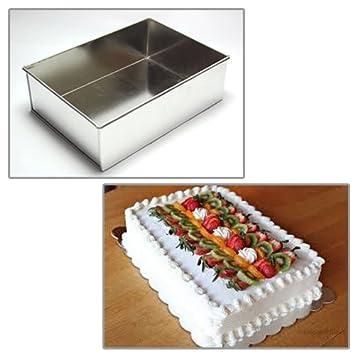 rectangulo Moldes para tartas 20cm para la torta perfecta para hornear: Amazon.es: Hogar