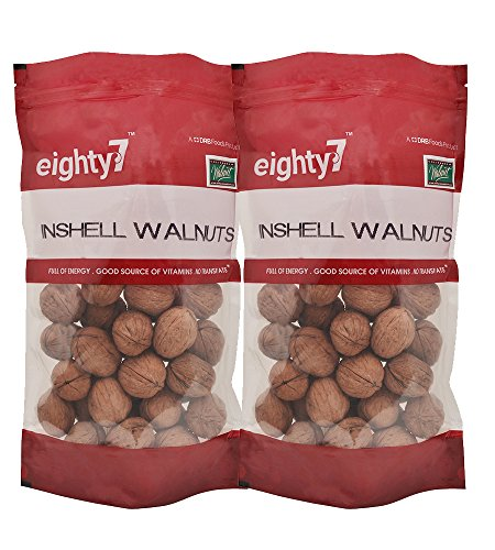 Eighty7 California Inshel Whole Walnut Pouch, 2 X 600 g