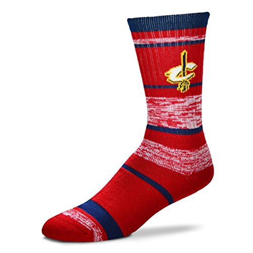 For Bare Feet NBA Cleveland Cavaliers Men's Socks (504 RMC Stripe)