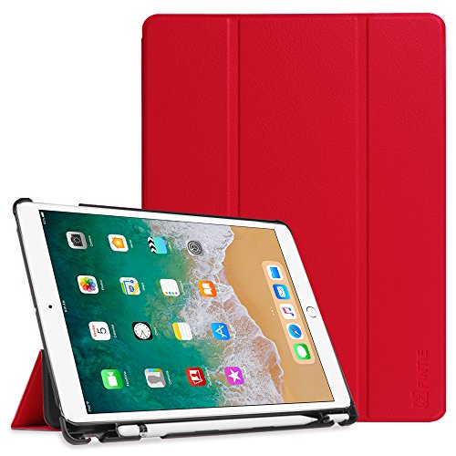 Fintie iPad Pro 10.5 Case with Built-in Apple Pencil Holder - [SlimShell] Ultra Lightweight Standing Protective Cover with Auto Wake/Sleep for Apple iPad Pro 10.5 Inch 2017 Tablet, Red