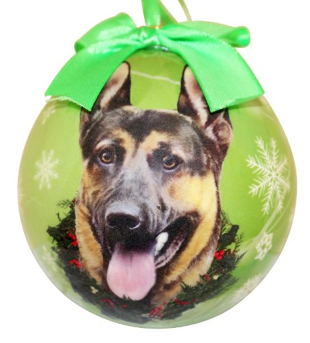 German Shepherd Christmas Ornament Shatter Proof Ball Easy To Personalize A Perfect Gift For German Shepherd Lovers -