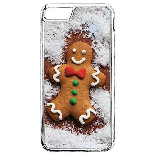 Case for iPhone 7,iPhone 7 Christmas Case,Gingerbread Snow Angel iPhone 7 Protective Case Christmas Santa Crystal Clear Transparent Case for iPhone 7 / iPhone 8 ()