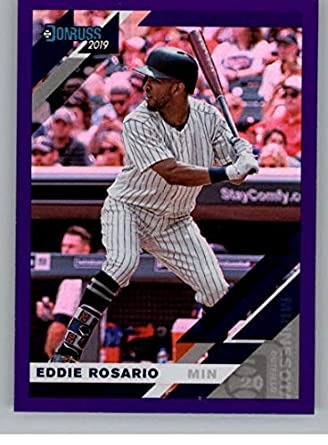 79101dafcc1 2019 Donruss Holo Purple Baseball #103 Eddie Rosario Minnesota Twins  Official MLB Trading Card from